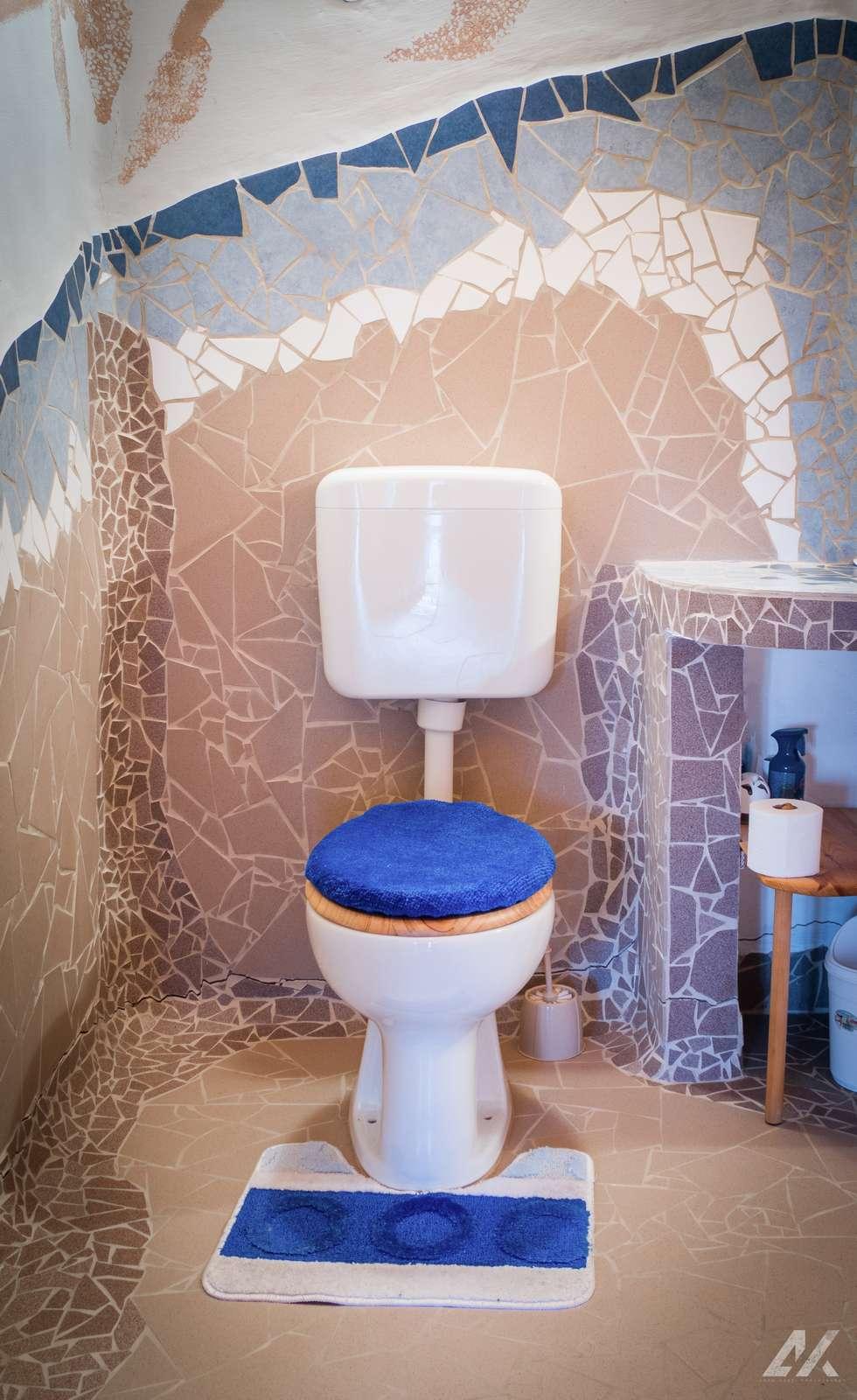 Kismélyvölgyi Vendégház - emeleti fürdőszoba mozaik burkolás - szállás Pécs